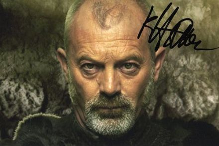 Keith Allen, signed 6x4 inch photo.